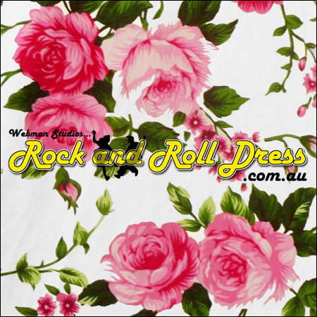 Pink rose rock and roll skirt