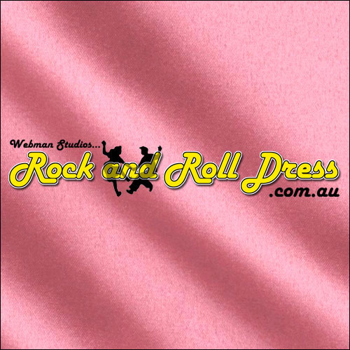 Pink satin rock and roll skirt