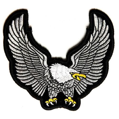 Image of Platinum Iron Eagle Patch