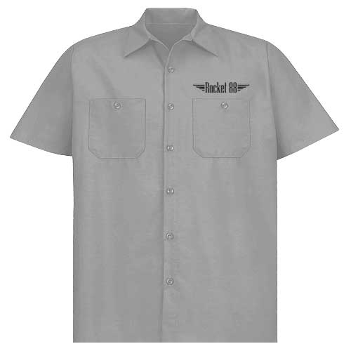 Rocket 88 Legendary Route 66 workshirt S-4XL Grey