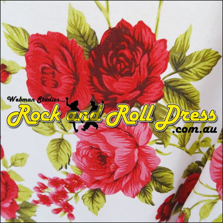 Rose red rock and roll skirt