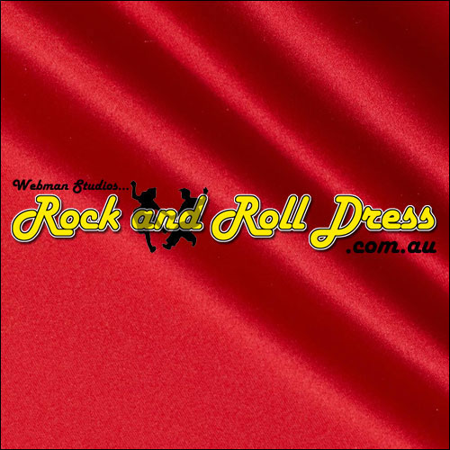 Red satin full circle rock and swing skirt