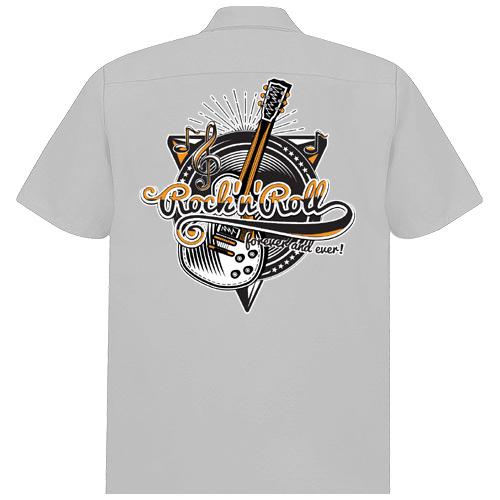 Image of Rocket 88 Rock 'n' Roll forever workshirt S-4XL Grey