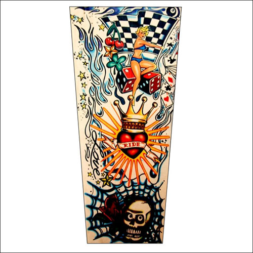 Rockabilly Ride tattoo sleeve