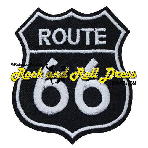 Route 66 patch black