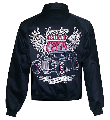 Image of Rocket 88 fully embroidered Route 66 jacket