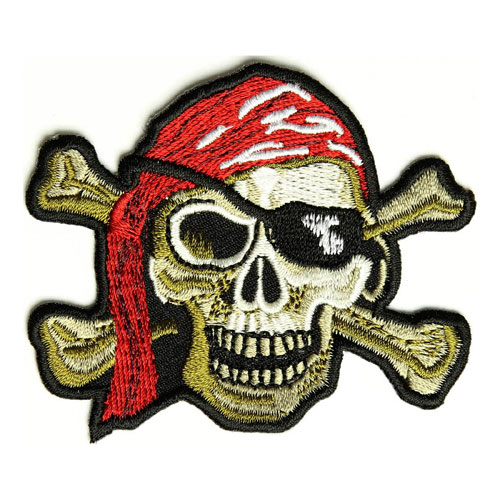 Pirate skull patch