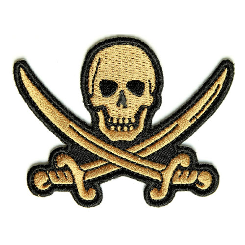 Skull and swords pirate patch