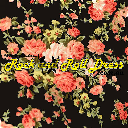 Spring vintage rock and roll skirt