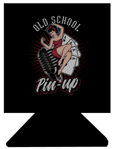 Old School Pinup drink holder / stubbie holder