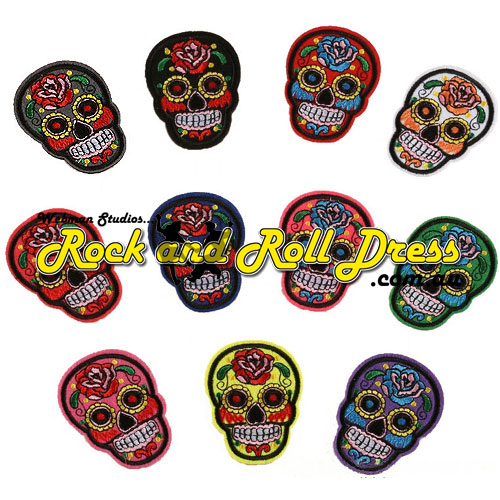 Sugar skull surprise patch