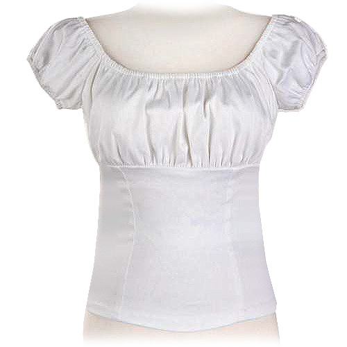White rock and roll peasant top S-7XL