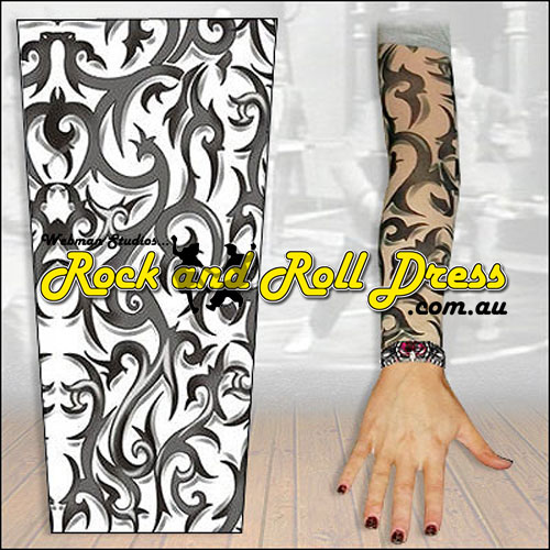 Image of Tribal Thorns rock and roll tattoo sleeve