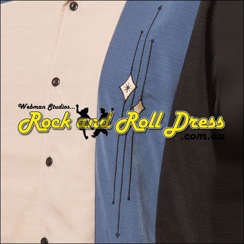 Rock Steady trinity button up rock and roll shirt