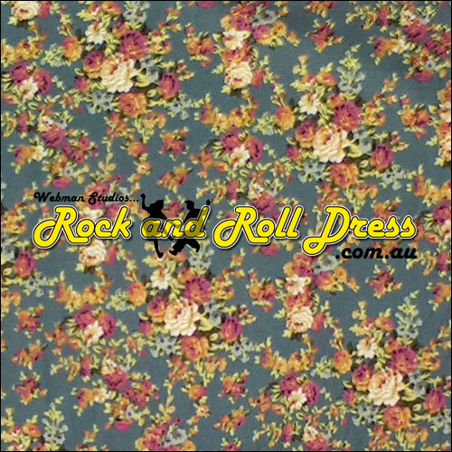 Vintage floral rock and roll skirt