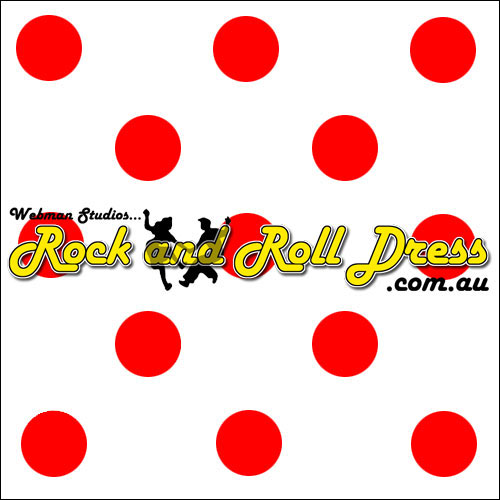 White red polka dot full circle rock and swing skirt